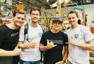 Bild von Whitecaps Products mit Robby Naish auf der Boot 2018 in Düsseldorf