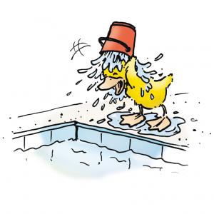 1. Gehe zur zum Baden, wenn Du dich wohl fühlst und dusche, bevor Du ins Wasser gehst.