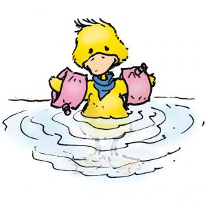 3. Gehe als Nichtschwimmer nur bis zum Bauch ins Wasser.