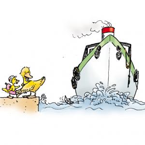6. Bade nicht dort, wo Schiffe und Boote fahren.