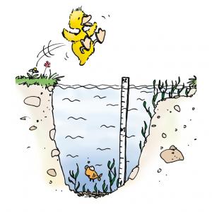 10. Springe nur ins Wasser, wenn es frei und tief genug ist.